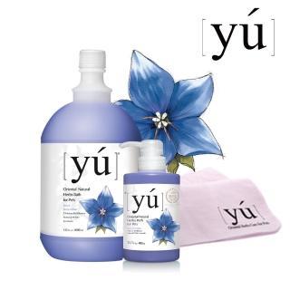 【YU 東方森草】桔梗白毛寵物沐浴乳(專業用桶)