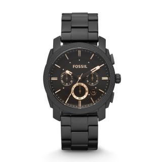 【FOSSIL】絕讚霸氣視覺三眼計時腕錶(鋼帶-咖啡 FS4682)