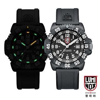 【瑞士LUMINOX雷明時】海豹部隊經典腕錶-黑x白時標(44mm)