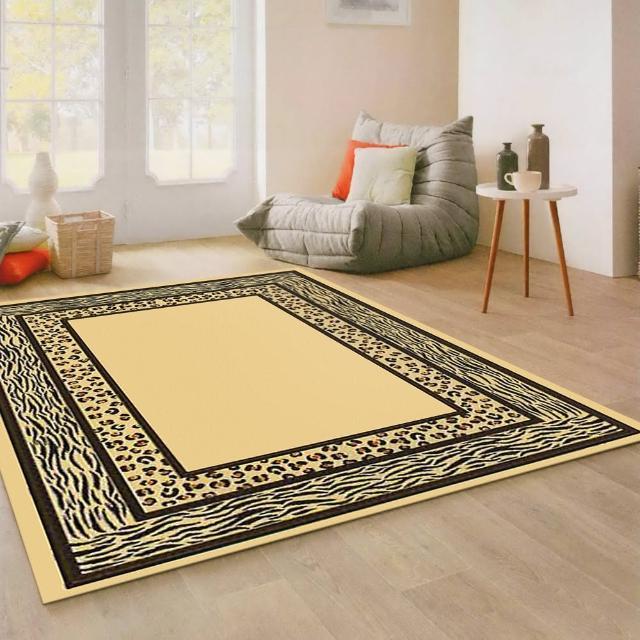 【范登伯格】薩斯狂野大地絲質地毯-豹紋水紋(140x190cm)