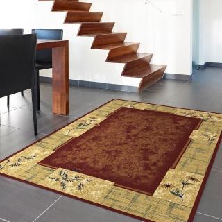 【范登伯格】薩比精緻雅典柔爽絲質感地毯玄關墊-美琪-紅款(160x230cm)