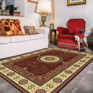 【范登伯格】薩比精緻雅典柔爽絲質感地毯-蜜桃純(160x230cm)