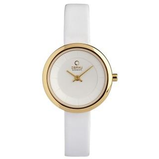 【OBAKU】雅悅媛式時尚腕錶(白金V146LGIRW)