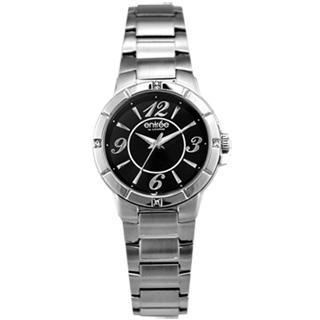 【LICORNE】entree 亮彩之星時尚晶鑽女錶(銀黑 LT004LWBA-S)