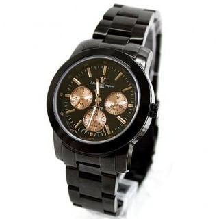 【范倫鐵諾】Valentino真三眼設計手錶 時尚藍寶石鏡面(NE280)