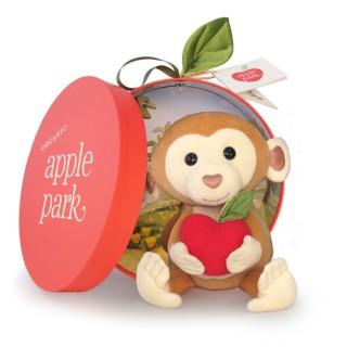 【Apple Park】Apple Park - 香蕉小猴/有機棉毛絨玩偶禮盒組(彌月禮)