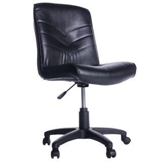 【吉加吉】短背箭紋 皮椅 電腦椅 TW-1008(黑色)