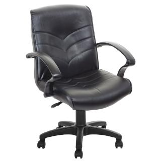 【吉加吉】低背箭紋 皮椅 電腦椅 TW-1007(黑色)  吉加吉