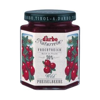 【Darbo 奧地利】70%果肉天然風味果醬-野生蔓越莓(200g)