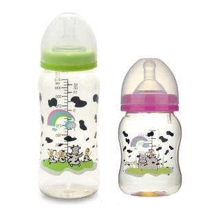 【貝喜力克】防脹氣寬口徑PES乳牛奶瓶組(360ml+180ml)