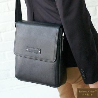 【Roberta Colum】時尚鉚釘軟牛皮超質感側肩背包(共兩色)