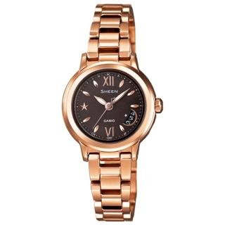 【CASIO 】SHEEN系列 璀璨時尚電波都會腕錶(玫瑰金 SHW-1500BG-5ADR)
