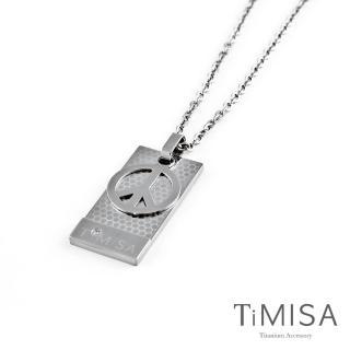 【TiMISA】和平宣言-M號 純鈦項鍊(H)