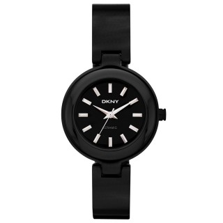 【DKNY】魅力潮流時尚陶瓷腕錶(黑 NY8549)