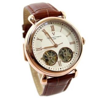 【Valentino范倫鐵諾】雙擺輪雙發條自動上鍊機械錶總裁手錶(玖飾時尚NE336)