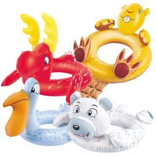 【酷博士】Bestway。動物頭像充氣游泳圈(36001)