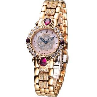 【Ogival 】愛其華 山茶花 黃玉系列 珠寶錶(305-11DLR)