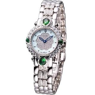 【Ogival 】愛其華 山茶花 黃玉系列 珠寶錶(305-11DLW)