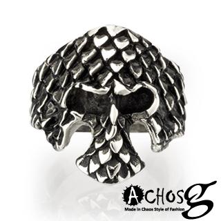 【ACHOS】the Mask巴洛克面具 潮流西德鋼戒