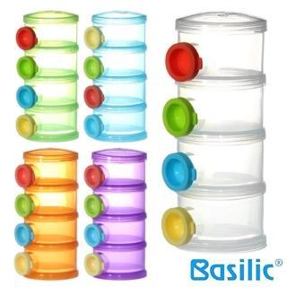 【貝喜力克】四層衛生奶粉盒+3個上蓋(隨機色)