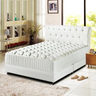 【睡芝寶-五星級飯店用-免翻面-麵包型-硬式獨立筒床墊厚24cm-加大】