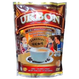 【馬來西亞 暢銷品牌】金寶URBON二合一無糖咖啡(12gx20小包)