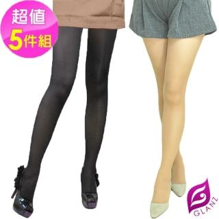 【GLANZ 格藍絲】100D 小惡魔防勾纖腿彈性絲襪x5雙(黑/膚任選)