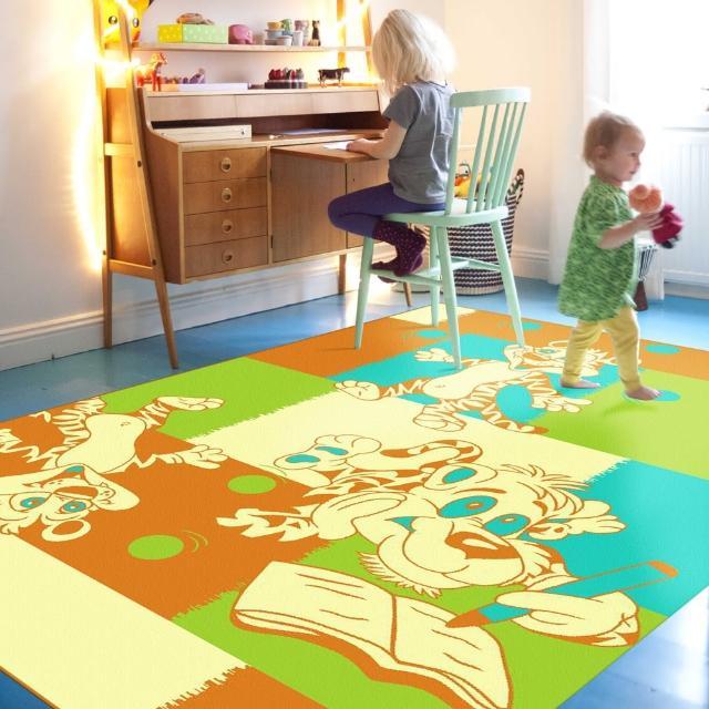 【范登伯格】奧斯汀☆可愛歡樂絲質地毯-俏皮虎(140x200cm)