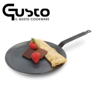 【GUSTO】20cm碳鋼無塗層法式薄餅淺底煎盤