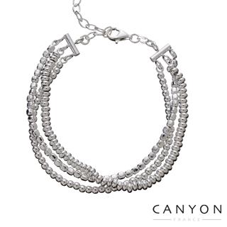 【CANYON】三種經典銀珠款式並排(三串式經典銀珠手鍊)