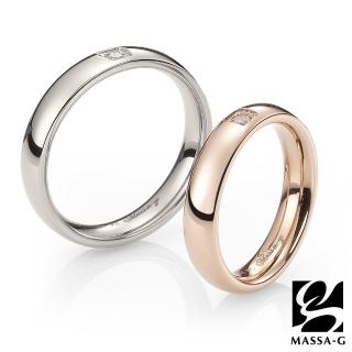 【MASSA-G】DECO系列 珍愛旅行玫瑰金+銀 鈦金對戒