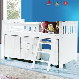 【顛覆設計】可愛天才型多功能書桌櫃組(純白色)