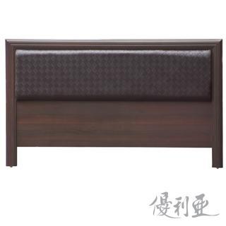 【優利亞-格紋皮面三分板】雙人5尺床頭片(2色可選)
