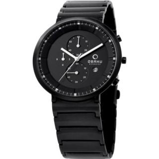 【OBAKU】極度凝聚三眼魅力腕錶(全黑V147GBBSB1)