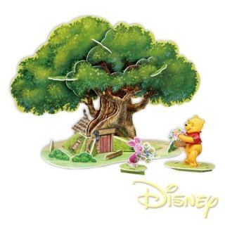 【酷博士】迪士尼DISNEY-3D立體模型組合屋(維尼樹屋)