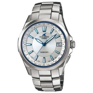 【CASIO】OCEANUS 質感雕琢鈦合金電波腕錶(銀白 OCW-S100-7ADF)