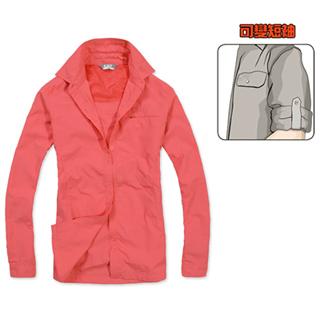 【PUSH!創新 】透氣速乾抗UV長袖女襯衫( 女款C57223)