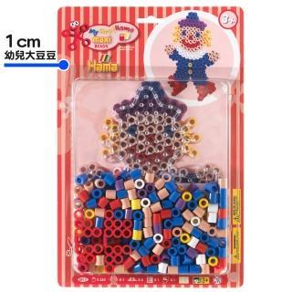 【Hama幼兒大豆豆】250顆大拼豆幼兒早教學習組合(透明小丑板)