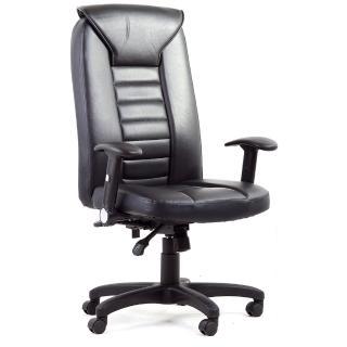【吉加吉】大靠背 透氣舒適皮革 辦公椅-電腦椅 TW-038(黑色)