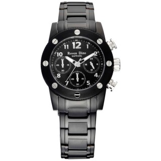 【Roven Dino羅梵迪諾】童心未泯三眼計時腕錶-黑銀/小(RD628B-696-AG)