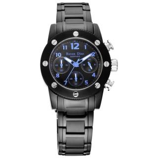 【Roven Dino羅梵迪諾】童心未泯三眼計時腕錶-黑藍/小(RD628B-696-B)