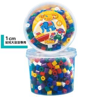【Hama幼兒大豆豆】600顆大拼豆罐裝補充桶(00一般色)