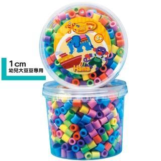 【Hama幼兒大豆豆】600顆大拼豆罐裝補充桶(50粉彩色)
