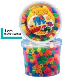 【Hama幼兒大豆豆】600顆大拼豆罐裝補充桶(51霓虹色)