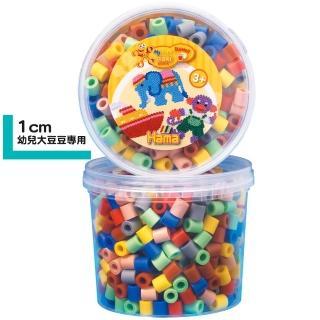【Hama幼兒大豆豆】600顆大拼豆罐裝補充桶(69膚彩色)