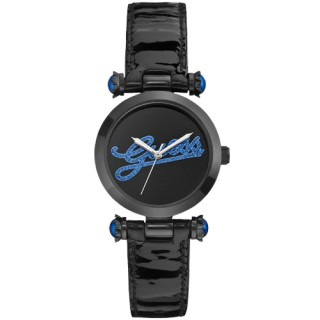 【GUESS】浮華摩登漆靚時尚腕錶(藍W0057L5)