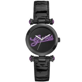 【GUESS】浮華摩登漆靚時尚腕錶(紫W0057L6)