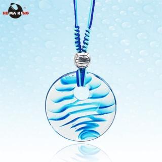 【HEMA KING】盛夏光年藍色琉璃墜項鍊