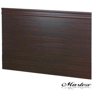 【Maslow-簡約胡桃加高型】加大床頭片-6尺(木心板)
