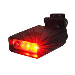 【WalkBox】迷你夾式高亮度3LED閃爍紅光警示夾燈